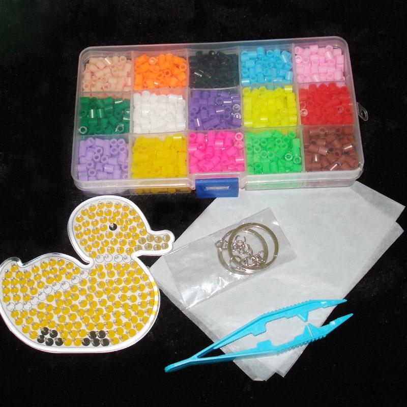 Детская 1500 шт./кор. 5 мм 15 цветов pegboard Hama горох Бусины головоломки DIY образование интеллект Игрушечные лошадки детей подарок на день рождения