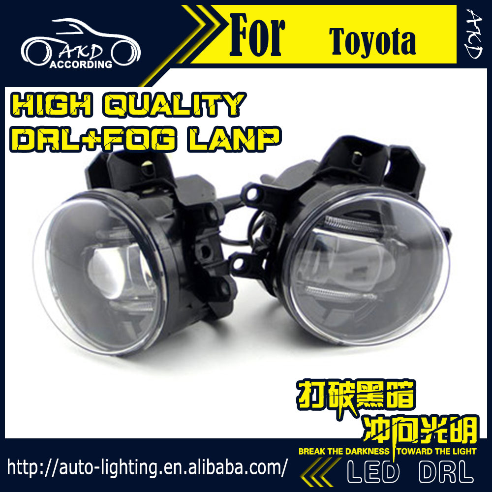 US $95 0 |AKD Car Styling Fog Light for Lexus GX460 DRL LED Fog Light LED  Headlight 90mm high power super bright lighting accessories-in Car Light