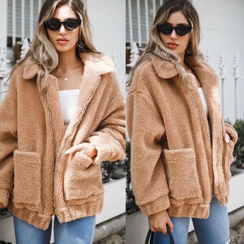 Fashion Women  Warm Wool Blend Winter Parka Coat Outwear Jacket New