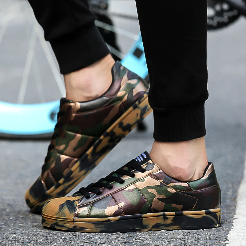 Yinglunqishi new skate shoes women shoes camouflage casual shoes spring 2016 men lace up outdoor walking