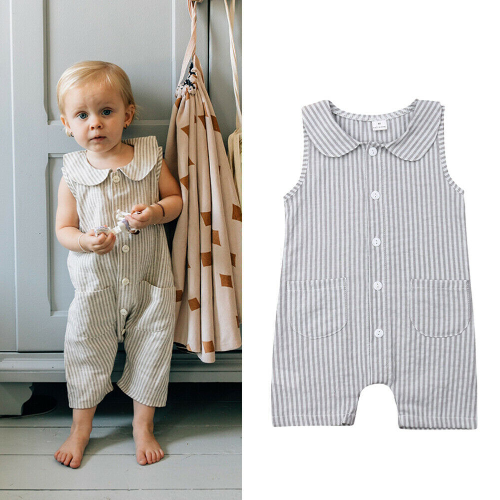 Handsome Fashion Cool Newborn Toddler Kids Clothes Casual Romper Casual Jumpsuit
