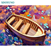 SDOYUNO Pictures by numbers For Adults 40x50cm Frameless Painting By Numbers Nature Bedroom Decor Gift Draw Number