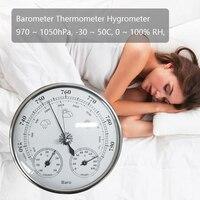 3 in 1 온도계 습도계 기압계 온도 습도 시험기 대기압 모니터 기상 관측소 아날로그 룸