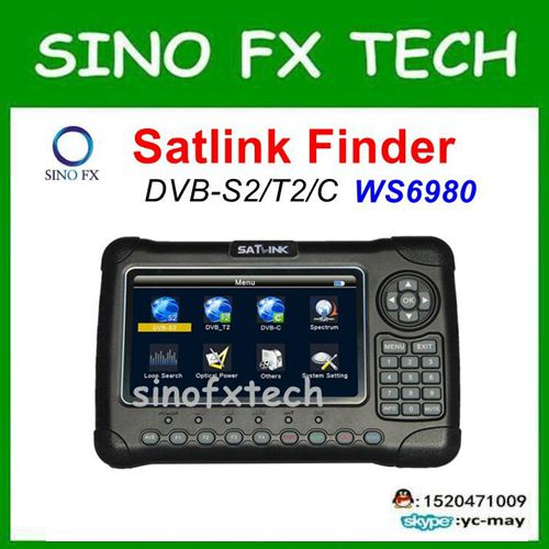 Original SATLINK WS-6980 DVB-S2+DVB-C+DVB-T2 COMBO 7 HD Spectrum analyzer Satellite Finder Meter ws6980 1pc original satlink ws 6933 ws6933 dvb s2 fta c ku band digital satellite finder meter free shipping