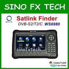 "Original SATLINK WS-6980 DVB-S2 + DVB-C + DVB-T2 COMBO 7 ""HD Spectrum analyzer Satellite Finder Medidor ws6980"