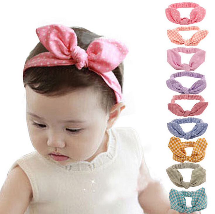 Lovely Bowknot Children Headband Baby Hair Accessories Baby Hair Band Girls Bow Headwrap Cotton Blend Bow Headband