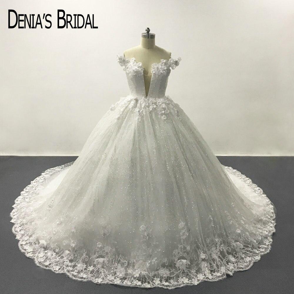 White Deep V Neck Lace Backless Ball font b Gown b font font b Wedding b