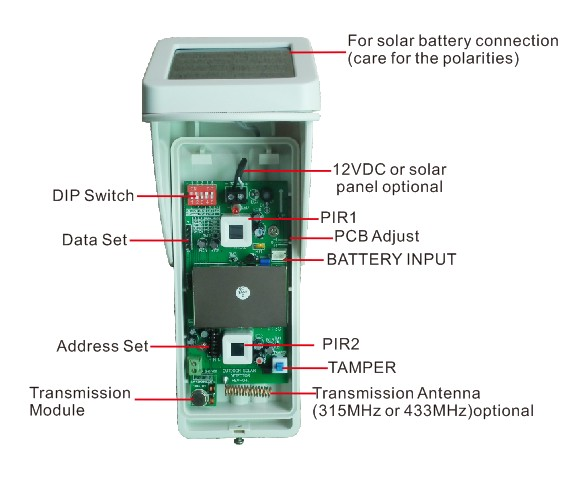 Image 2 - WIFI Alarm G90B Outdoor Motion Sensor Solar Powered External Weatherproof Pet Friendly PIR Detector with 2 PIR-in Sensor & Detector from Security & Protection