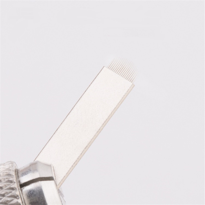 0 18mm U Shape 18 pin Flex Needle Permanent Makeup Eyebrow Microblading Tattoo Blade For Manual Tattoo Gun in Tattoo Needles from Beauty Health