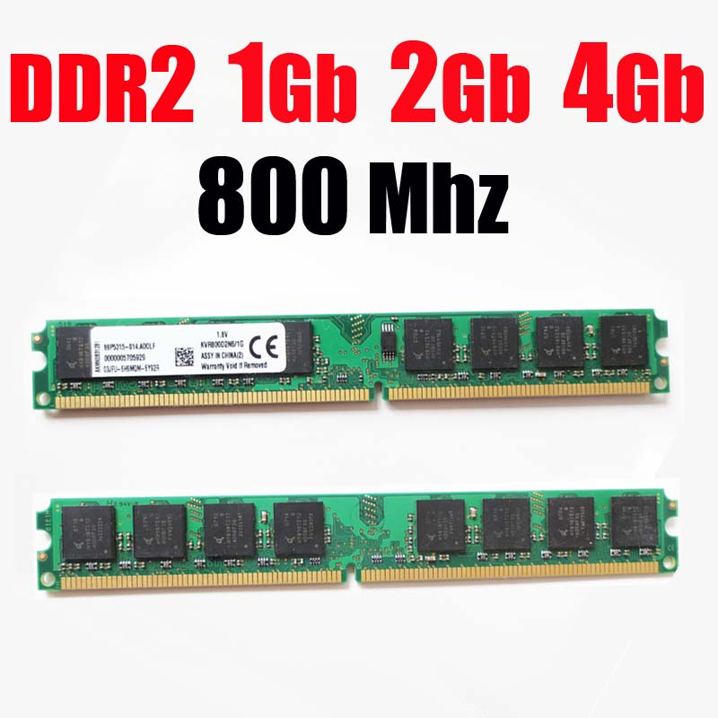 Оперативная память ddr2 4Gb 1G 2Gb 800 DDR2 800 Mhz/для AMD для intel модуль DDR для настольных компьютеров 2 1G 2G 4G ddr2 Память ram memoria ddr2 2Gb 800 PC2 6400