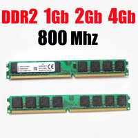 Ram ddr2 4Gb 1G 2Gb 800 DDR2 800 Mhz/pour AMD pour intel desktop DDR 2 1G 2G 4G ddr2 mémoire RAM memoria ddr2 2Gb 800 PC2 6400