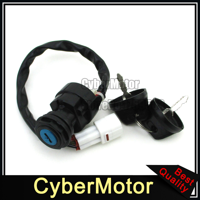 Ignition Key Switch 4 Pin Wire For TIMBERWOLF YFB250F GRIZZLY YFM600 YFM80 Yamaha ATV Quad 4 Wheeler