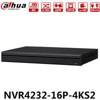 Dahua оригинальный NVR4232-16P-4KS2 32CH 8MP 1U 16POE 4 K H.265 Lite Сетевой Видео Регистраторы 2 SATA заменить NVR4216-16P-4KS2 Быстрая доставка