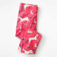 Littlemandy Pink Unicorn New Baby Girls Leggings Flower Applique Kids 100% Cotton 2019 Brand Children Trousers Pants Clothes