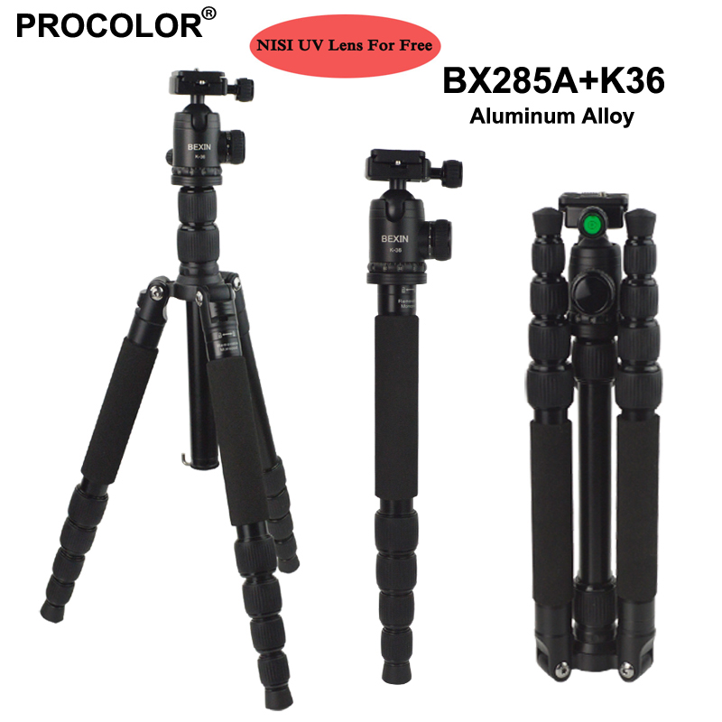 Professional Portable Photography Aluminum Tripod Change Monopod / Panoramic Ball Head / photo camera stand For DSLR Camera ashanks professional aluminum camera tripod mini portable monopod with ball head for dslr photography video studio load 10kg