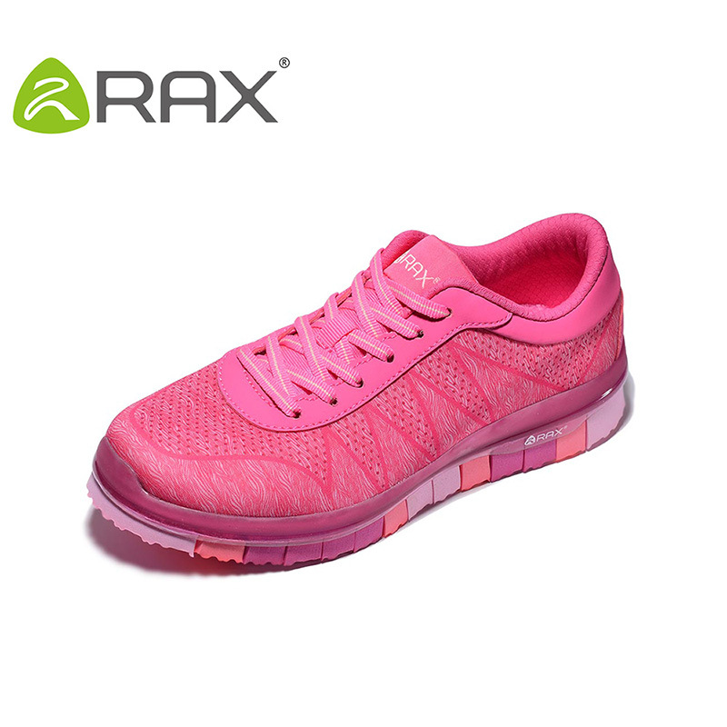Rax Outdoor Shoes Women Breathable Hiking Shoes Slip Female Quick-Drying Sports Shoes Cushioning Sneakers B2624 2017 women hiking sneakers shose lace up low cut sport shoes breathable hiking shoes women athletic outdoor shoes quick drying