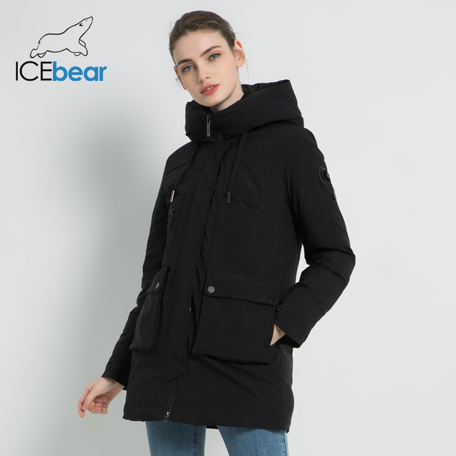 ICEbear 2019 New Winter Hooded Jacket Women's Coat Fashion Female Jacket Warm Winter women's Parkas Plus Size Clothing GWD19078I 3