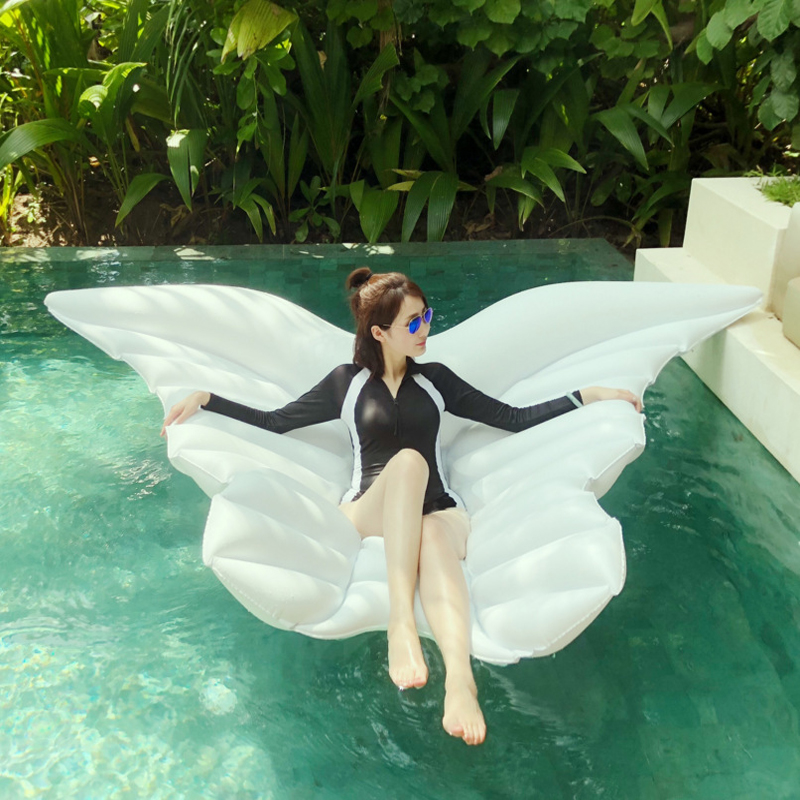 180cm-Giant-White-Angel-Wings-Inflatable-Pool-Float-Air-Mattress-Lounger-Water-Summer-Party-Toys-Butterfly (6)