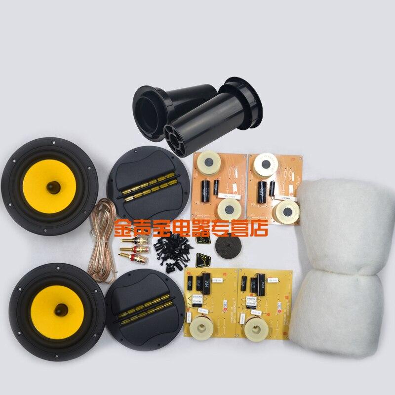2017 HiVi M1.2 6'' DIY Speaker Kit=(2pcs F6 Midwoofer+RT2C-A Ribbon Tweeter)+Crossover+Tube+Terminal+Speaker Cable+Screws+Wool цена