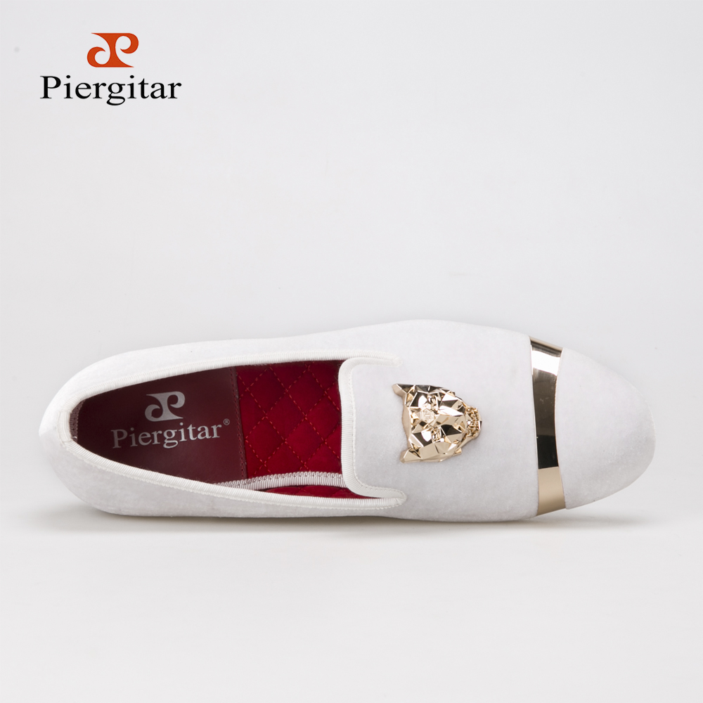 014d1325c New fashion men party and wedding handmade loafers men velvet shoes with PP  tiger and gold buckle men dress shoe men's flats-in Men's Casual Shoes from  ...