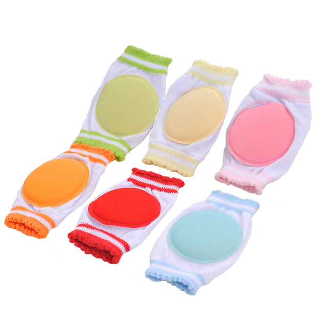 1Pair Boys Girls Kneepad Cozy Cotton Breathable Sponge Children Knee Pads Baby Learn To Walk Best Protection Circular Kneepad
