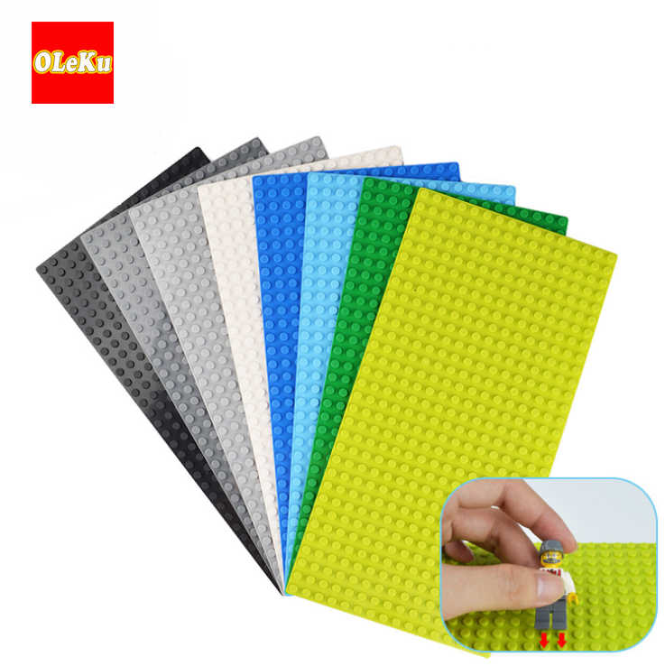 For Bricks Base Plates Baseplates16* 32 Dots Plates Plastic Brands Model Building Blocks Construction Toys kits