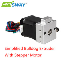 3DSWAY 3D Printer Kit Lite Version Bulldog Extruder Kit Extrusion Head with 42 Stepper Motor for Reprap Kossel Prusa Printer