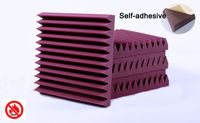 Excellent Sound Insulation Glue Acoustic Foam Treatment Sound Proofing 6 PCS With Self Adhesive