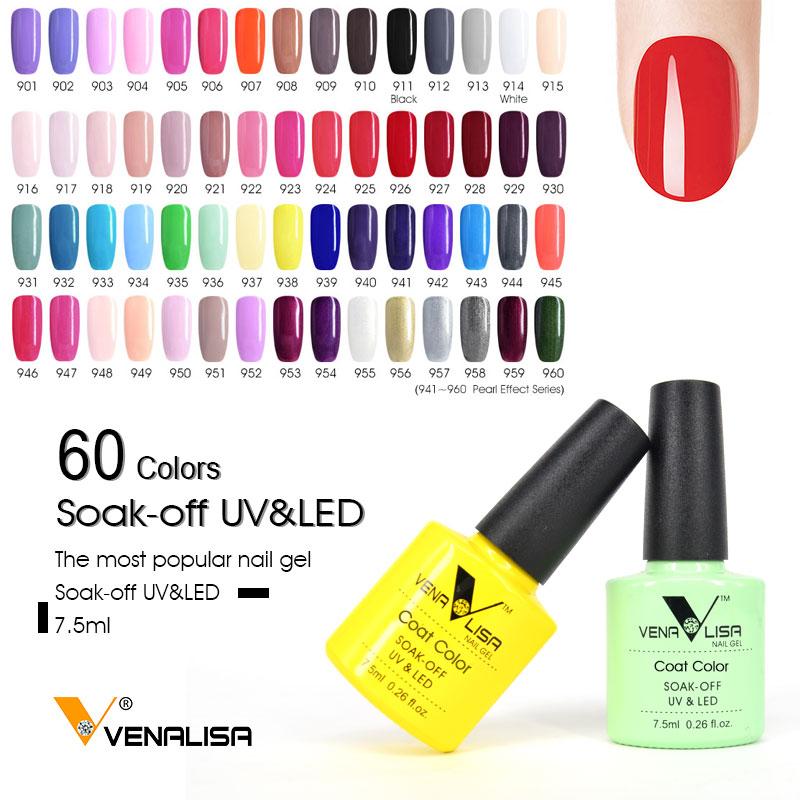#61508 CANNI ג 'ל לק Venalisa לספוג את UV LED צבע ג' ל פולני אמנות ציפורן ג 'ל ציפורניים צבע פולני