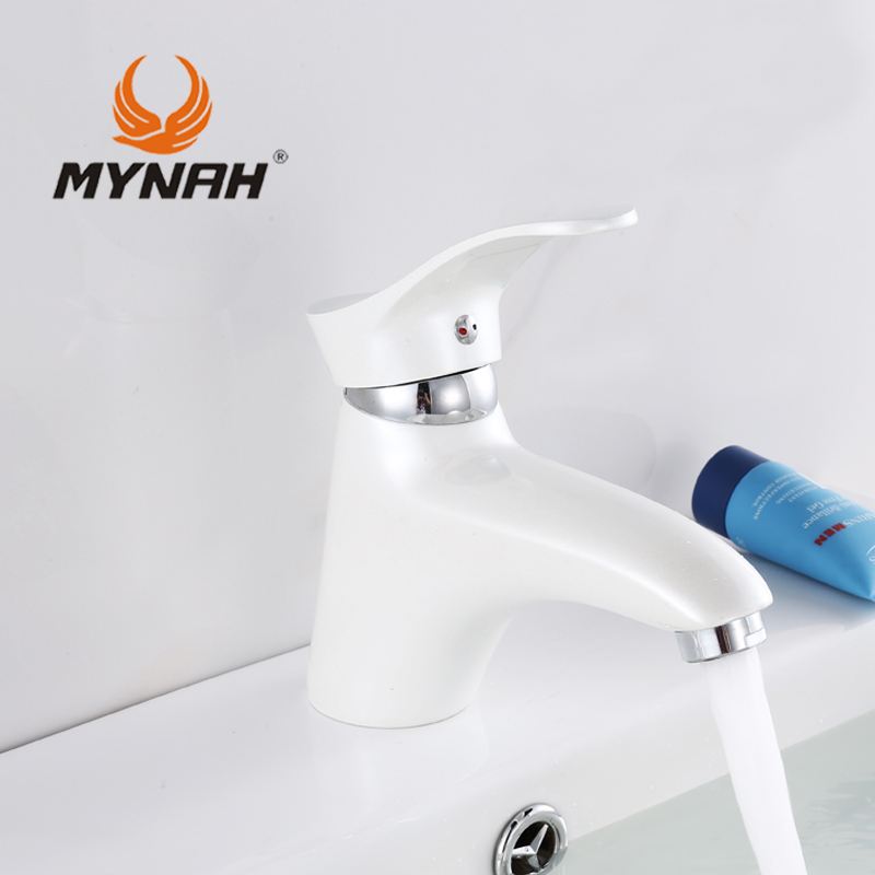 MYNAH Russia free shipping New arrival high quality white Kitchen Faucet Classic Style Basin Faucet M1001J