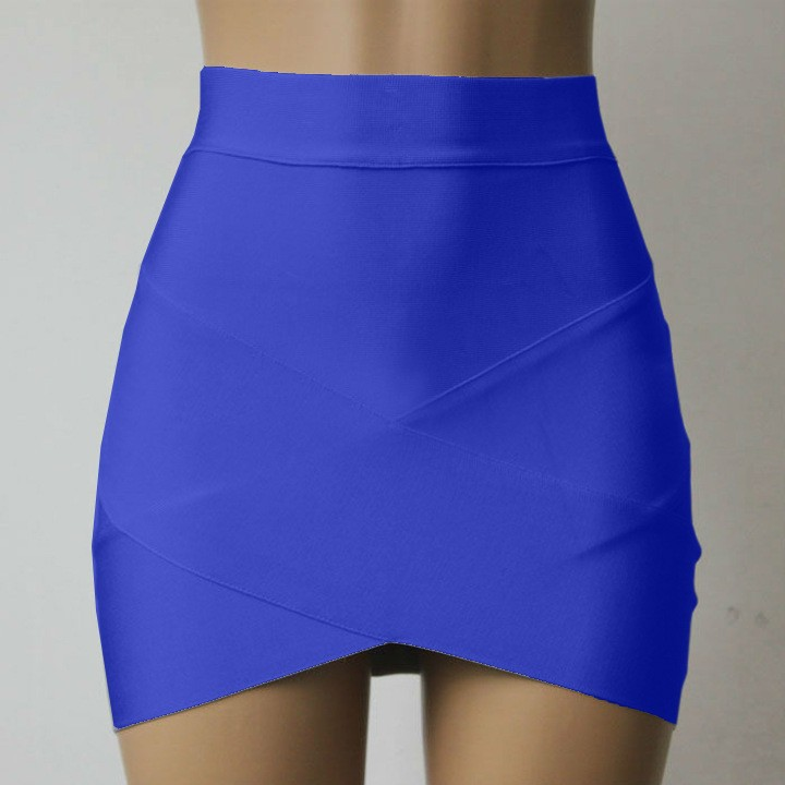 e44fbb69f Sexy Pencil Skirts Womens Lady High Waist Skirt Mini Candy Black White Wrap  Bud Short Skirts Womens Bandage Clubwear Blue Office-in Skirts from Women's  ...