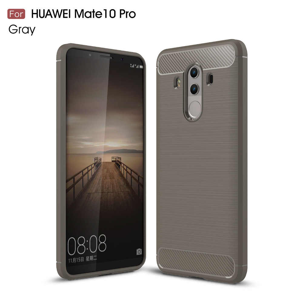 Huawei Mate 10 Pro Trường Hợp Silicon Trường Hợp đối với Huawei Mate 10 Mate 9 Trường Hợp Fundas Bìa Carbon Mềm Sợi Brushe Coque Etui Aksesuar
