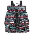 Rugzak sansarya 2017 lona de la vendimia mochila impresión mujeres del lazo mochila bolsas escolares para adolescentes mochila back pack