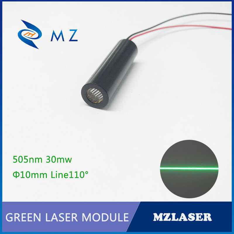Green Line Laser 505nm30mw Divergence Angle 110degree Industrial Grade  ACC Drive Circuit Laser Module