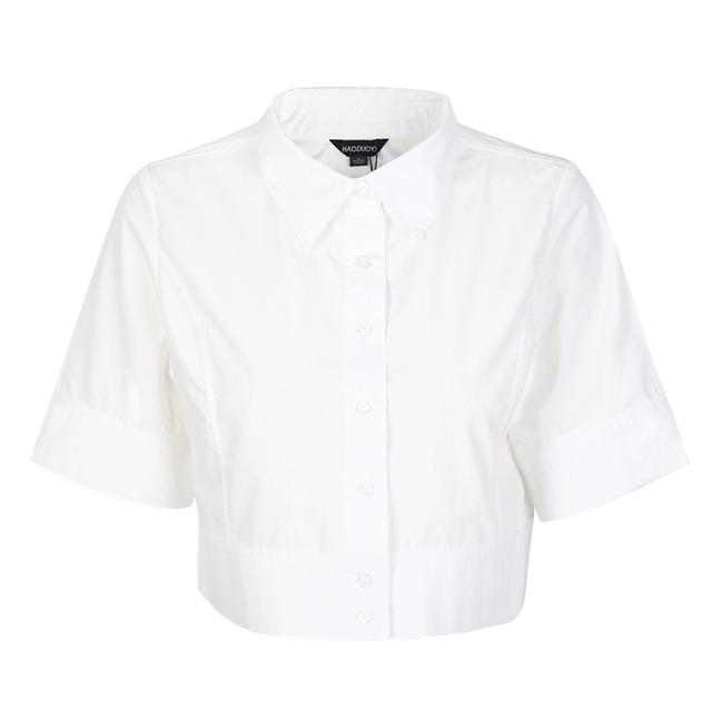 OL Half Sleeve Crop Top