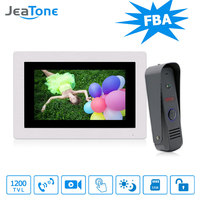 JeaTone Waterproof 7 Touch Screen Video Wired Doorbell Monitoring System Intercom With Camera Home Intercom Remote
