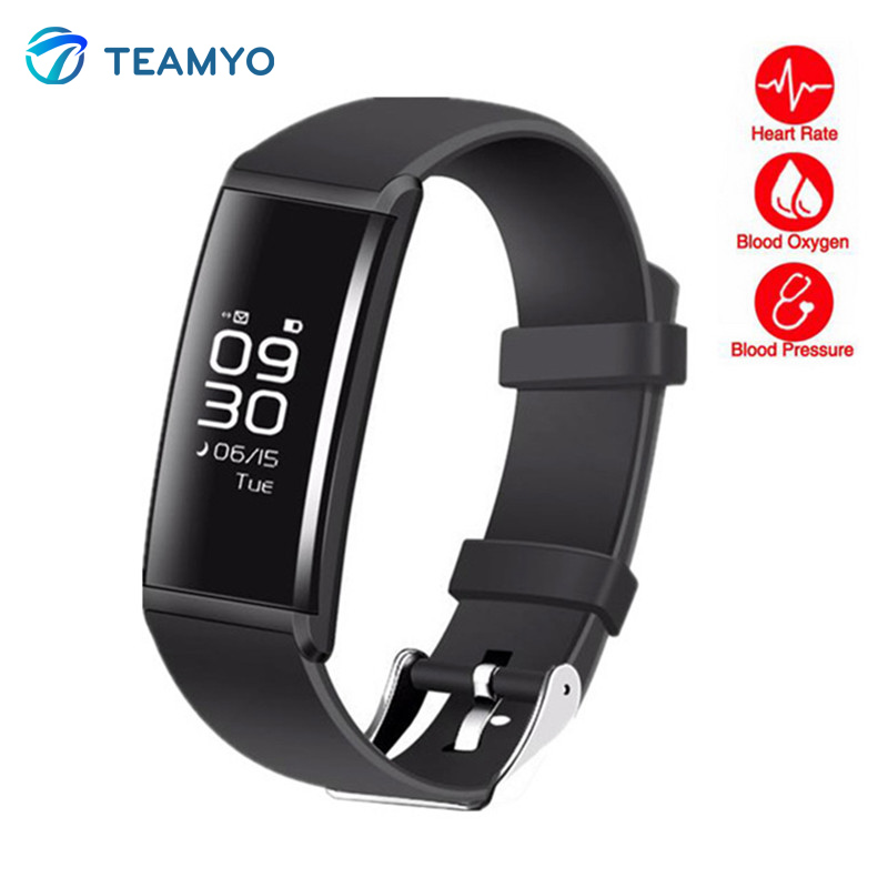 Teamyo X9 Smart Bracelet Heart rate monitor Blood pressur Oxygen Step counter Fitness Tracker Smart Wristband