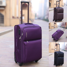 20 inch women and men oxford travel luggage bags on universal wheels cheap trolley luggage suitcase