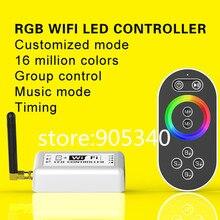 16 миллионов цветов RGB СВЕТОДИОДНЫЙ контроллер WI-FI с дистанционным, Группы или timing control волшебный цвет rgb контроллер wi-fi