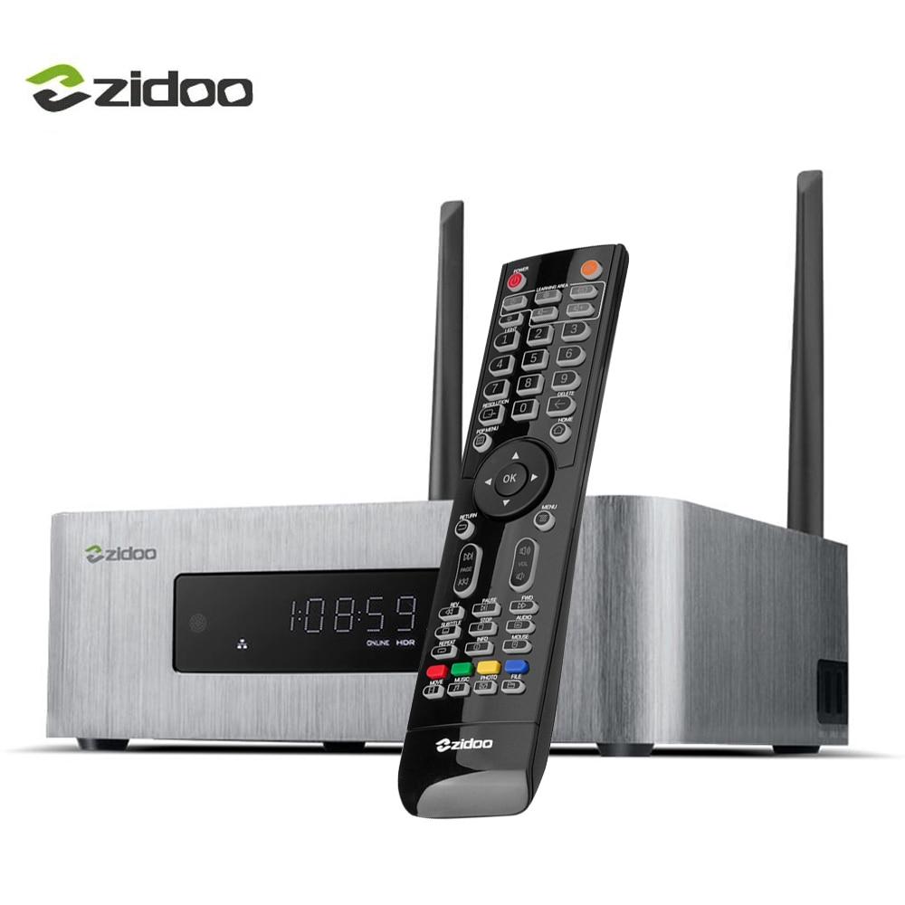 ZIDOO X10 Smart Media Player Android 6.0 TV Box 4K HDMI 2.0 HDR Quad-core Set top Box 2G/16G Dual Band WIFI 1000M LAN TVbox egreat a10 tv box 4k uhd media player hi3798cv200 2g 16g wifi gigabit lan hdr 10 blu ray 3d dolby atoms dts wireless keyboard
