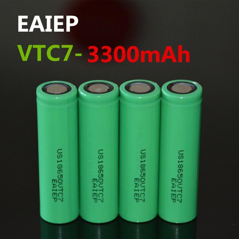 Электронные изделия EAIEP US18650VTC7, 4 шт./партия, 3300 мАч, аккумулятор большой емкости для мобильных телефонов