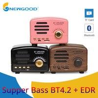 Retro Speaker Subwoofer Bass Mini Bluetooth Speaker Outdoor Portable Speaker with FM Radio Hands Free For Phone PC Speaker