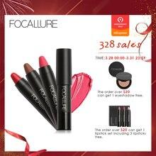 Купить с кэшбэком FOCALLURE 19 Colors Matte Lipsticks Waterproof Matte Lipstick Lip Sticks Cosmetic Easy to Wear Lipstick Matte Batom
