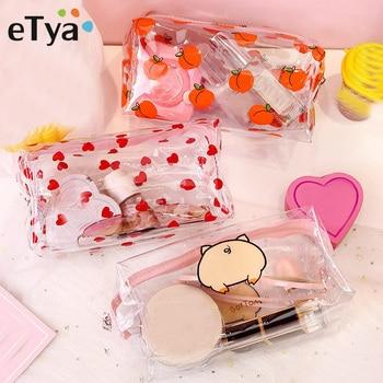 Women Transparent PVC Travel Cosmetic Bag Clear Waterproof Zipper Makeup Bag Beauty Organizer Make Up Case Wash Toiletry Bags