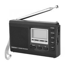 Profissional mini rádios portáteis fm/mw/receptor sw com despertador digital fm/am rádio bom receptor de som como presente para pai