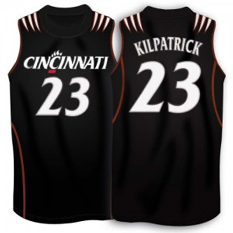 official photos d751a e1c65 Sean Kilpatrick Cincinnati Bearcats Jersey Black White Retro ...