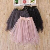 Lace Dance Tutu Skirt For Girl 2018 FashionSummer Irregular Sequin Tulle Pettiskirt Toddler Girls Princess Birthday