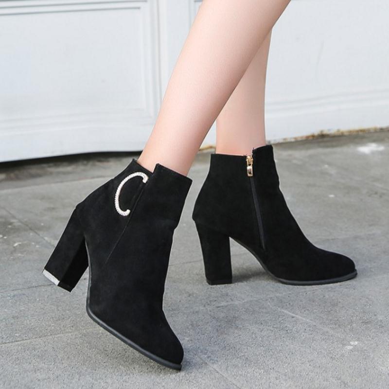a30dcc37b Compre KaiziKarzi Mulheres Sapatos De Salto Alto Botas De Cristal ...