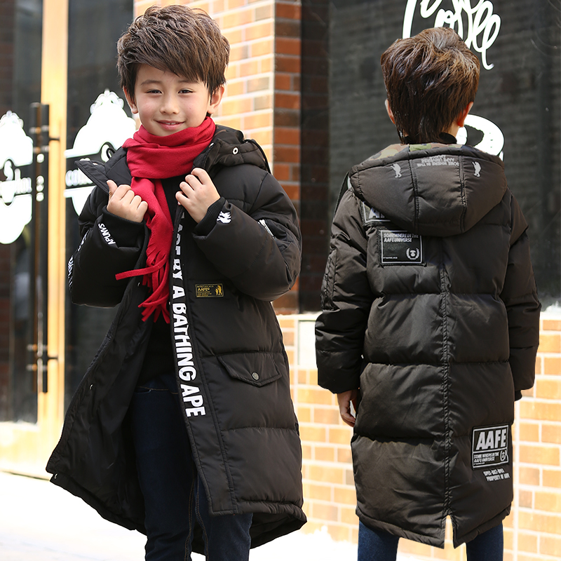 2017 Warm Boy's Winter down Jackets Newest baby boy's Coats thick Down brand Kids jacket Children Outerwears cold winter new winter girls boys down jackets baby kids long sections down coats thick duck down warm jacket children outerwears 30degree