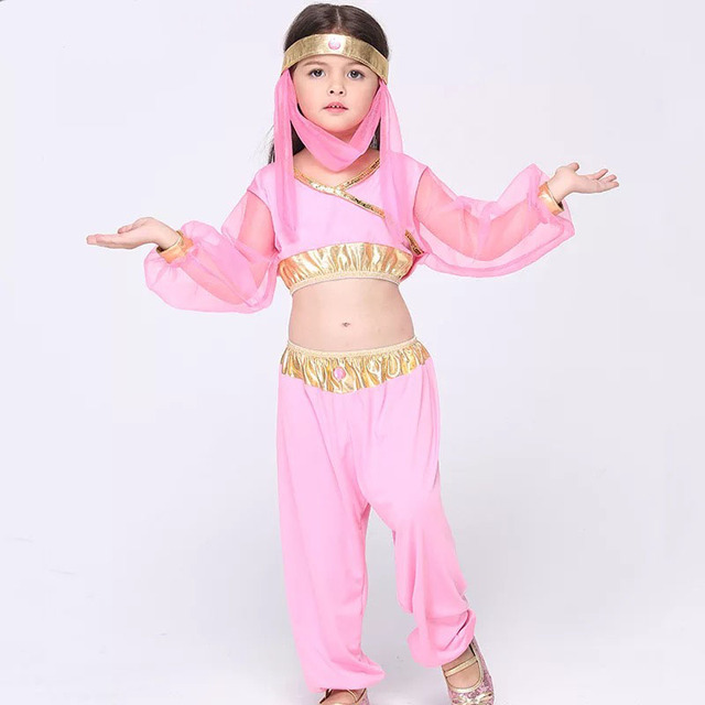 Baby Kids Halloween Princess Jasmine Costume Crop Tops Suit Genie Child Fancy Belly Dance Party Clothing  sc 1 st  AliExpress.com & Baby Kids Halloween Princess Jasmine Costume Crop Tops Suit Genie ...